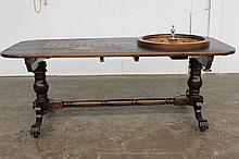 ROULETTE TABLE 1880 VINTAGE THIS IS THE LAST PIECE OF GAMING FROM THE FAMOUS SARATOGA CANFIELD CASINO IN ORIG. COND. - WHAT A GREAT FIND