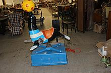 EXC. WORKING CHILDS RIDING SEAL - PLUG IT IN - WORKS GREAT - ORIG COLORS