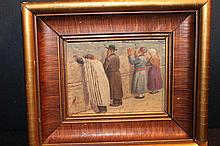 SUPER OIL ON BOARD HIGH-QUALITY ARTIST NOT SIGNED 8 X 6.5