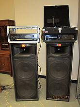 OUTSTANDING DISK JOCKEY SYSTEM TO INCLUDE 2 JBL SPEAKER TOWERS, GEMENI DISC PLAYER & EQUALIZER, PHONIC MAX 2500 AMPLIFIER, MICROPHONE AND ALL HEAVY DUTY CORDS (SOUNDS FANTASTIC)