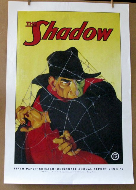 THE SHADOW - PULP FICTION HERO – Finch Paper promo poster, 1998 – Printed on 100 pound, bright white paperstock, only 500 poster were printed. 26