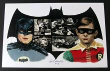 "1966 BATMAN & ROBIN - DELUXE ART PRINT BY KEN BRANDT – Stunning portrait art, signed and dated by the artist. Highly limited, measures 11"" X 17"". Mint condition."