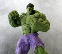 "MARVEL COMICS - THE HULK - Powerfully painted resin model of Marvel's mean, green Avenger. Stands 11"" tall x 6"" wide x 9"" deep. Quite rare."