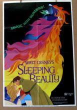 DISNEY'S SLEEPING BEAUTY - Re-release 1970 - One Sheet Movie Poster - 27