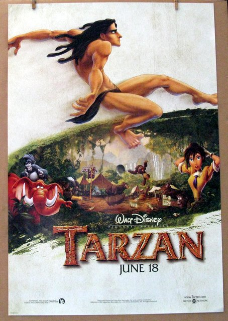 DISNEY'S TARZAN - 1999 - Advance One Sheet Movie Poster - 27