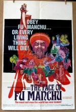 CHRISTOPHER LEE - THE FACE OF FU MANCHU - 1965 - One Sheet Movie Poster - 27
