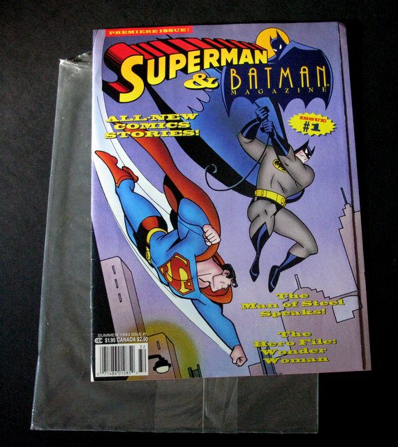 SUPERMAN AND BATMAN ANIMATED MAGAZINE - PREMIER ISSUE #1 - DC Comics, 1993 - Fantastic stories of DC's most famous heroes. 8