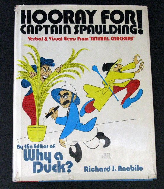 MARX BROTHERS - HOORAY FOR CAPTAIN SPAULDING - DELUXE HARDCOVER BOOK - Avon Books, 1965 - Rare 224 page book showing excellent moments in the hit movie Animal Crackers.Measures 8 1/2