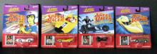 SPEED RACER COMPLETE SET OF FOUR DIE-CAST CARS - Johhny Lightning, 1997 - Set includes Speed Racer's Mach 5, Racer X's Shooting Star, The GRX, and The Assassin. All new sealed on cards.