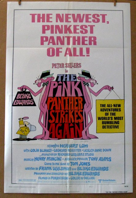 PINK PANTHER STRIKES AGAIN - 1976 - One Sheet Movie Poster Style A - 27