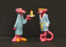 PINK PANTHER - LOT OF TWO VINTAGE FIGURINES - Fun 3