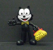 FELIX THE CAT - VINTAGE BENDY FIGURE 1968 - Awesome wired poseable figure of the famous cat. Stands 5