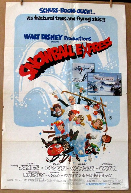 DISNEY'S SNOWBALL EXPRESS - 1972 - One Sheet Movie Poster - 27