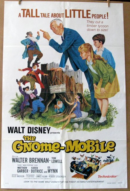 DISNEY'S THE GNOME-MOBILE - Re-release 1976 - One Sheet Movie Poster - 27