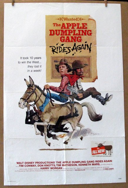 DISNEY'S APPLE DUMPLING GANG RIDES AGAIN - 1979 - One Sheet Movie Poster - 27