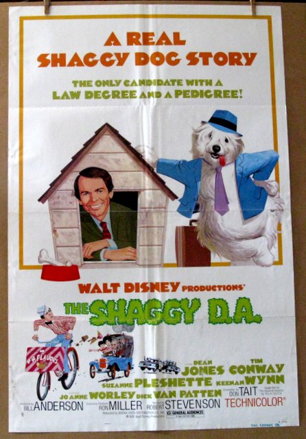 DISNEY'S THE SHAGGY D.A. - Re-release 1977 - One Sheet Movie Poster - 27