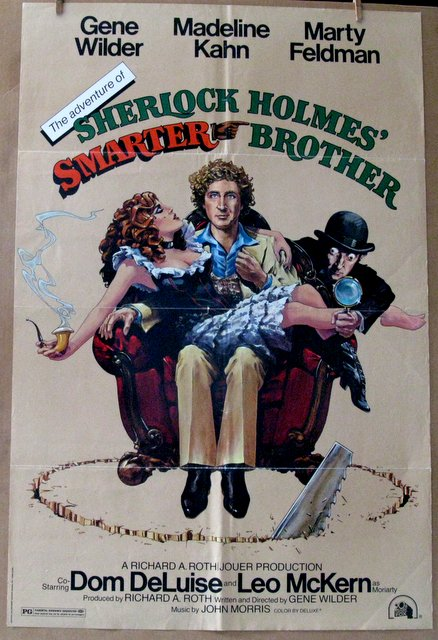 GENE WILDER, MARTY FELDMAN - SHERLOCK HOLMES' SMARTER BROTHER - 1975 - One Sheet Movie Poster - 27