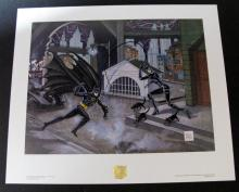 BATMAN CATWOMAN PENGUIN ORIGINAL BOB KANE ART PRINTS SET OF TWO - First Team Press, 1992 - Full color lithography on acid-free paper. Gorgeous set includes Dangerous Game of Cat and Bat measuring 1' 8 1/2