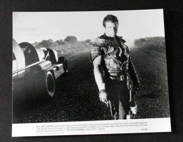 MEL GIBSON MAD MAX ROAD WARRIOR - ORIGINAL MOVIE STILL - Black & white movie still of the famed movie warrior. Excellent.