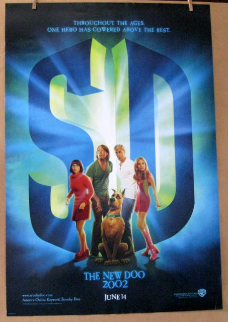 SCOOBY DOO THE MOVIE - 2001 - Advance One Sheet Movie Poster - 27