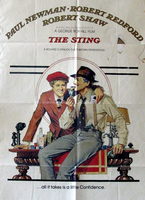 PAUL NEWMAN, ROBERT REDFORD - THE STING - 1974 - One Sheet Movie Poster - 27