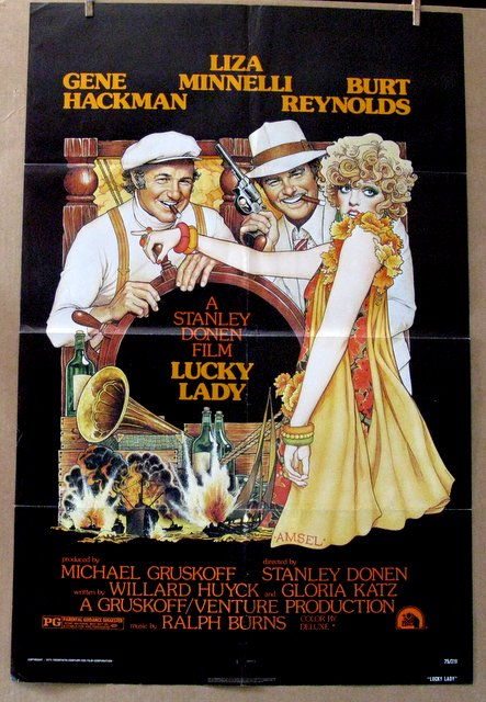 GENE HACKMAN, BURT REYNOLDS - LUCKY LADY - 1975 - One Sheet Movie Poster - 27