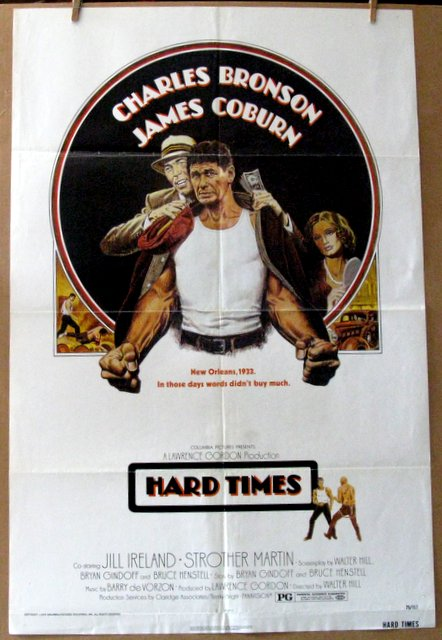 CHARLES BRONSON - HARD TIMES - 1975 - One Sheet Movie Poster - 27