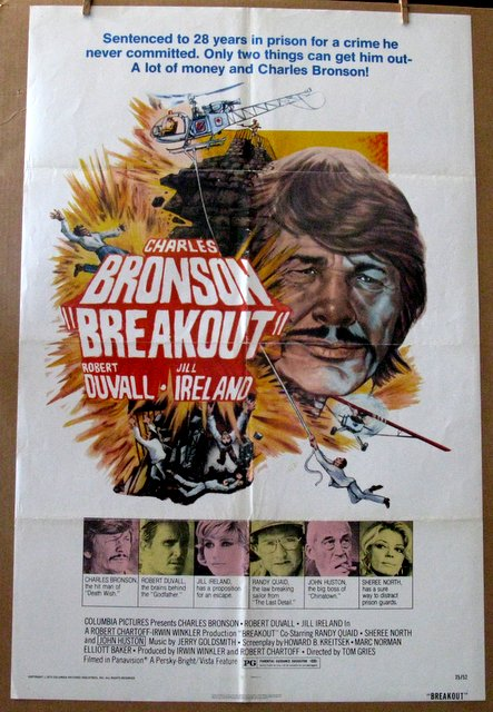 CHARLES BRONSON - BREAKOUT - 1975 - One Sheet Movie Poster - 27