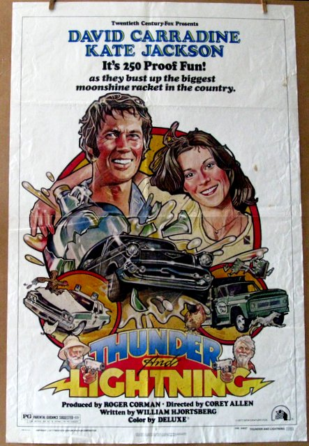 DAVID CARRADINE - THUNDER AND LIGHTNING - 1977 - One Sheet Movie Poster - 27
