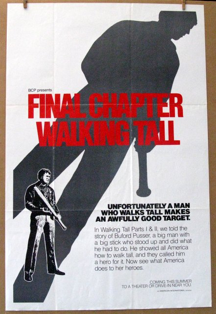 WALKING TALL FINAL CHAPTER - 1977 - One Sheet Movie Poster - 27