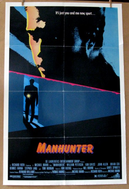FIRST HANNIBAL LECTOR FILM - MANHUNTER - 1986 - One Sheet Movie Poster - 27
