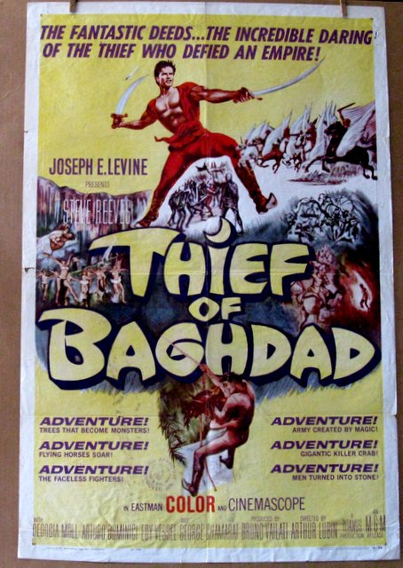 STEVE REEVES - THIEF OF BAGHDAD - 1961 One Sheet Movie Poster - 27