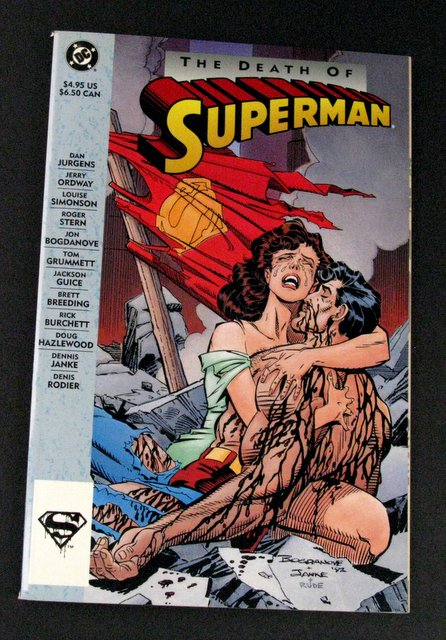 THE DEATH OF SUPERMAN - DELUXE TRADE PAPERBACK - DC Comics, 1993 - A deluxe edition comic featuring the tragic tale of Superman's final feat. Excellent.