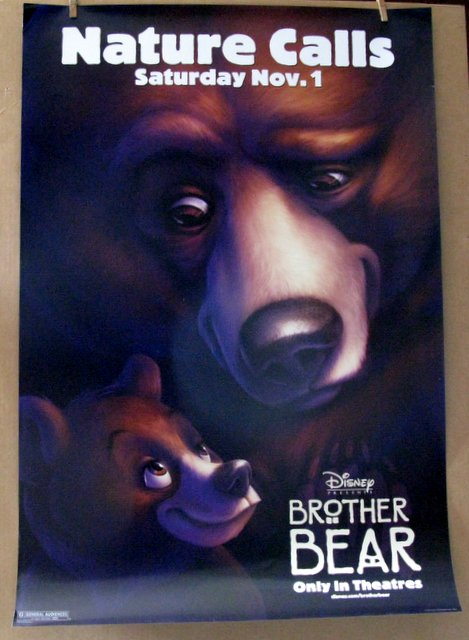 DISNEY'S BROTHER BEAR - 2003 - Advance One Sheet Movie Poster - 27