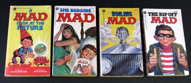 MAD MAGAZINE - LOT OF FOUR PAPERBACKS - Warner Books, 1978 - Lot includes books #2, 6, 21, and 34. All 4