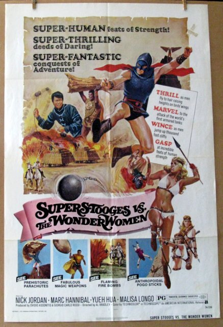SUPER STOOGES VS. THE WONDER WOMEN - 1974 - One Sheet Movie Poster - 27