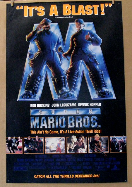 SUPER MARIO BROTHERS THE MOVIE - 1993 - One Sheet Movie Poster - 27