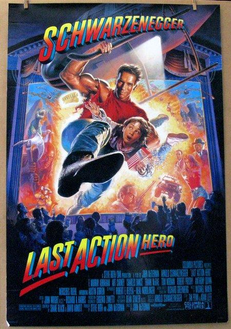 ARNOLD SCHWARZENEGGER - THE LAST ACTION HERO - 1993 - One Sheet Movie Poster - 27
