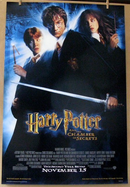 HARRY POTTER AND THE CHAMBER OF SECRETS - 2002 - One Sheet Movie Poster - 27