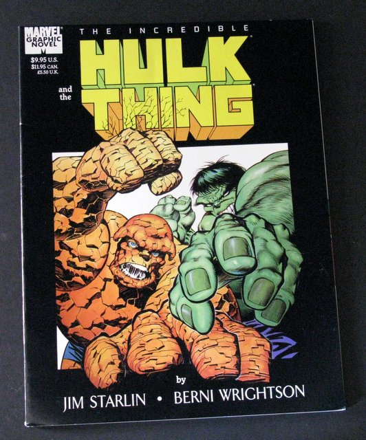 THE INCREDIBLE HULK & THE THING - DELUXE COMIC BOOK - Marvel Comics, 1987 - Full color comic featuring the mightiest team up in all of Marvel, the two behemoths! Excellent.