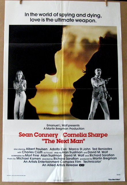 SEAN CONNERY - THE NEXT MAN - 1976 - One Sheet Movie Poster - 27