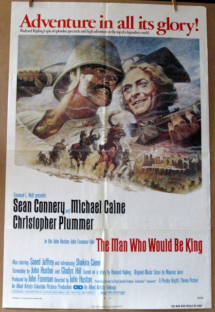 SEAN CONNERY - THE MAN WHO WOULD BE KING - 1975 - One Sheet Movie Poster - 27