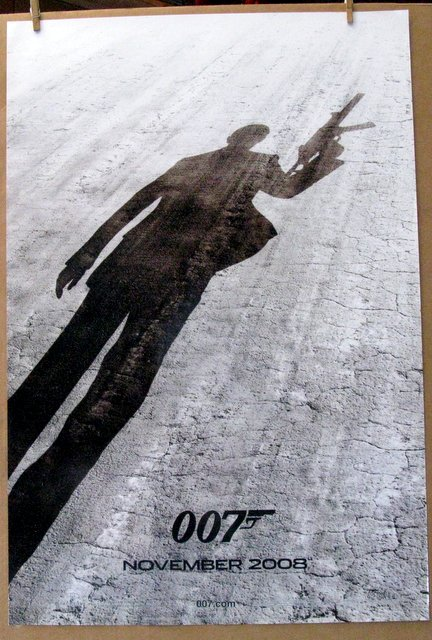 JAMES BOND 007 - QUANTOM OF SOLACE - 2008 - Advance One Sheet Movie Poster - 27