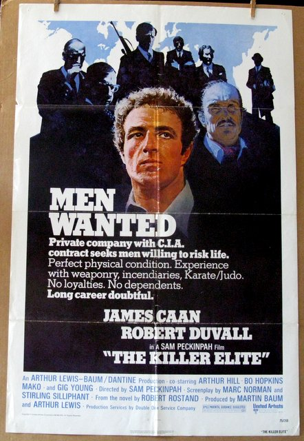 THE KILLER ELITE - 1975 - One Sheet Movie Poster - 27