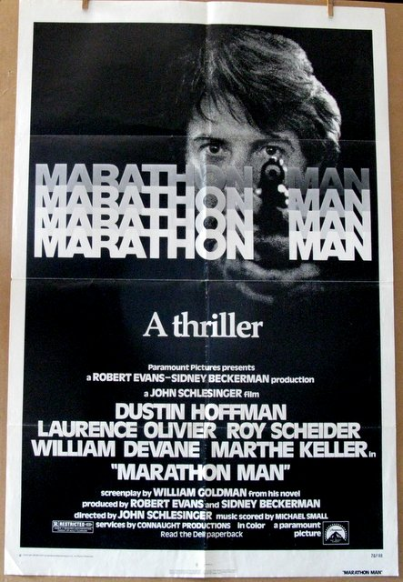 DUSTIN HOFFMAN - MARATHON MAN - 1976 - One Sheet Movie Poster - 27