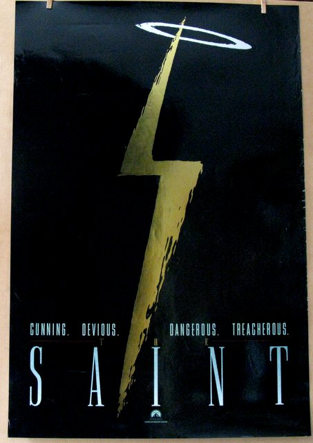 VAL KILMER - THE SAINT - 1996 - Advance One Sheet Movie Poster - 27