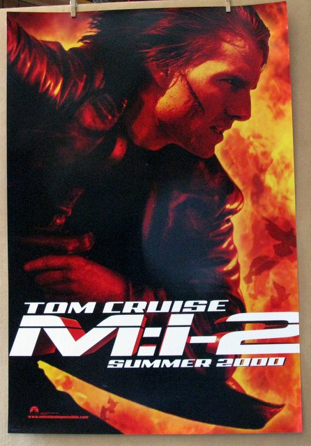 TOM CRUISE MISSION IMPOSSIBLE 2 - 2002 - Advance One Sheet Movie Poster - 27