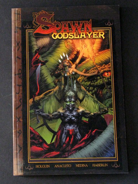 SPAWN - GODSLAYER DELUXE FULL COLOR COMIC BOOK - Image Comics, 2006 - Excellent rendition of Todd McFarlane's original tale rewritten! Near Mint.