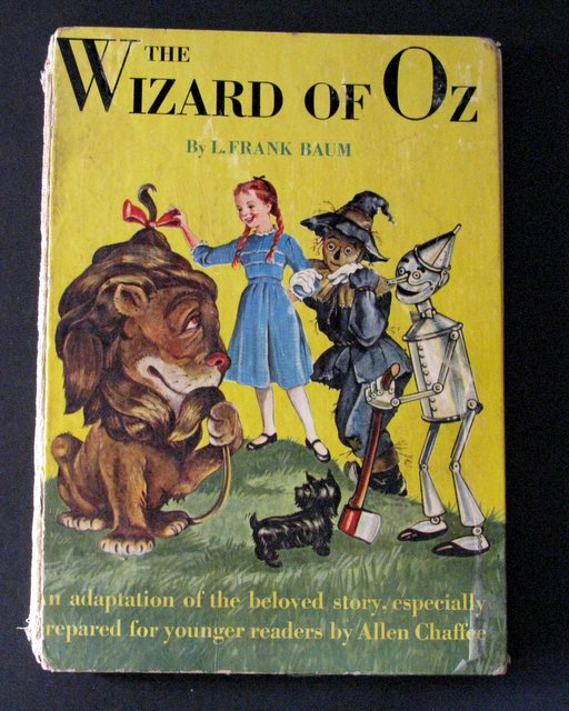 THE WIZARD OF OZ - VINTAGE CHILDREN'S BOOK ADAPTATION - Random House, 1950 – Gorgeous illustrated telling of the famous tale gently adapted for children. Loose spine, otherwise Very Good.