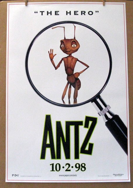 ANTZ - ADVANCE POSTERS, COMPLETE SET OF FOUR - 1998 - Four Advance One Sheet Movie Posters - All 27